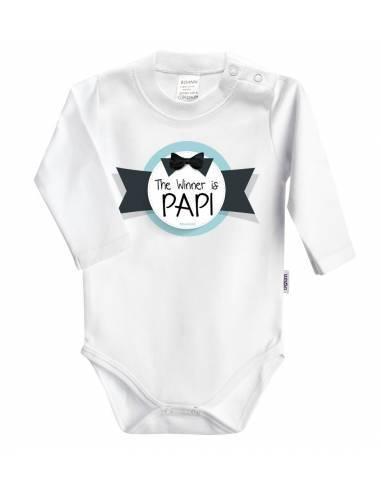 """Body bebé personalizado FRASE """"The winner is papi"""" - Bodys bebé personalizados"""