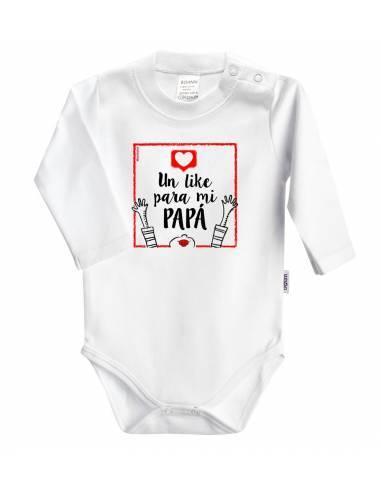 """Body bebé personalizado FRASE """" Un like para mi papá"""" - Bodys bebé personalizados"""
