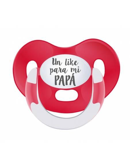 "Chupete frase Día del padre "" un like para mi papá"" - Chupetes originales con frases"