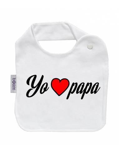 "Babero personilazado ""Yo amo papá"" - Baberos personalizados divertidos"
