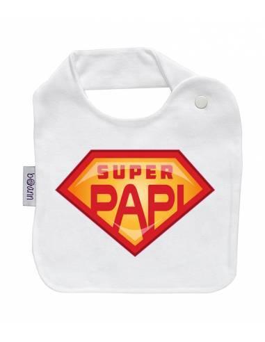 "Babero personilazado ""Superpapi"" - Baberos personalizados divertidos"