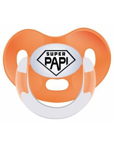 """Chupete frase Día del padre """"Super papi"""" - Chupetes originales con frases"""