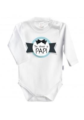 DÍA DEL PADRE - REGALO PAPÁ: Body + babero+chupete The winner is papi