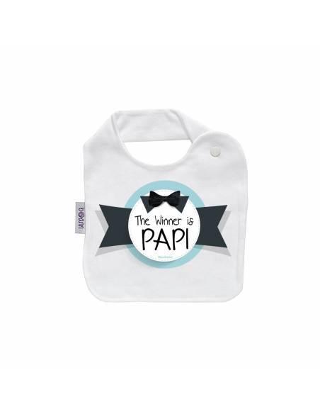 REGALO PAPÁ: Body + babero+chupete The winner is papi - Regalos bebés día del Padre