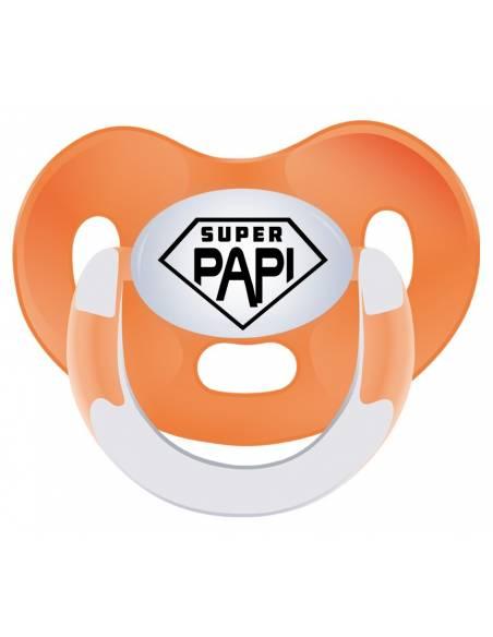 REGALO PAPÁ: Body + babero+chupete Super papi - Regalos bebés día del Padre
