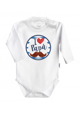 DÍA DEL PADRE - REGALO PAPÁ: Body + babero+chupete I love papá