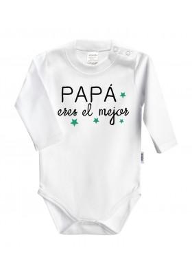 DÍA DEL PADRE - REGALO PAPÁ: Body + babero+chupete Papá eres el mejor