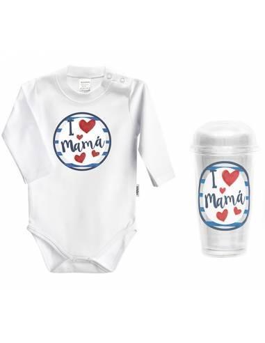 """Body bebé personalizado FRASE """"I love mamá"""" - Bodys bebé personalizados"""