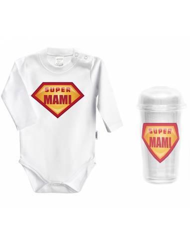 """Body bebé personalizado FRASE """"Super mami"""" - Bodys bebé personalizados"""