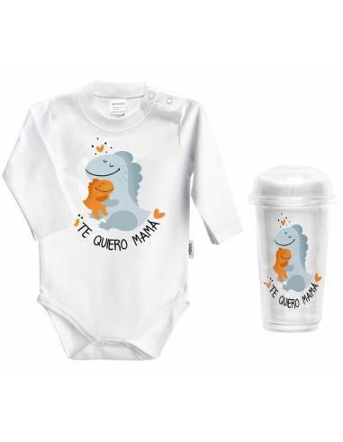 Body bebé personalizado día de la madre Abrazos de dinosaurio - Bodys bebé personalizados