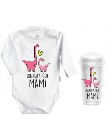 Body bebé personalizado día de la madre Igualito que mami - Bodys bebé personalizados