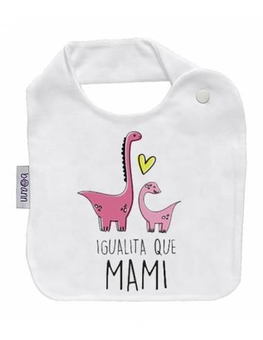 Babero personilazado dia de la madre: Igualito que mami - Baberos personalizados divertidos