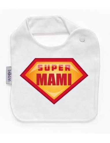 Babero personilazado dia de la madre: Super mami - Baberos personalizados divertidos