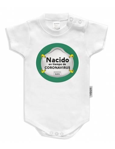 Body bebé personalizado Nacido en tiempo de Corona virus - Bodys bebé personalizados