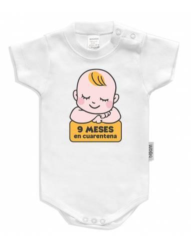 """Body bebé personalizado """" 9 meses en cuarentena"""" - Bodys bebé personalizados"""