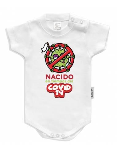 """Body bebé personalizado """" Nacido en tiempos del Covid 19"""" - Bodys bebé personalizados"""