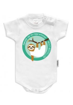 BODYS BEBÉ PERSONALIZADOS - Body bebé personalizado Modelo perezoso