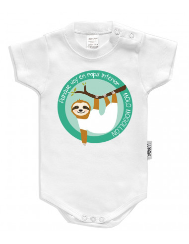 Body bebé personalizado Modelo perezoso - Bodys bebé personalizados