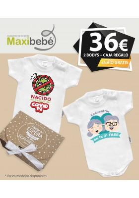 PACK DE 2 BODYS para bebé personalizados VERANO 2020