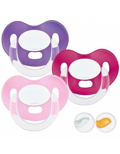 Chupetes Personalizados MAXIBEBÉ Rosas 0-6m - Chupetes recién nacidos 0-6 meses