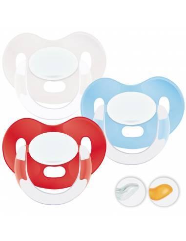 Chupetes Personalizados MAXIBEBÉ Rojo Cian 0-6m - Chupetes recién nacidos 0-6 meses