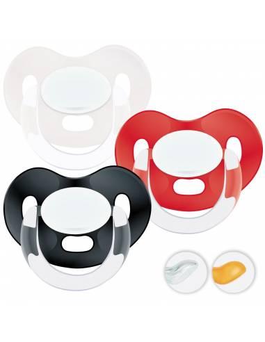 Chupetes Personalizados MAXIBEBÉ Negro Rojo 0-6m - Chupetes recién nacidos 0-6 meses
