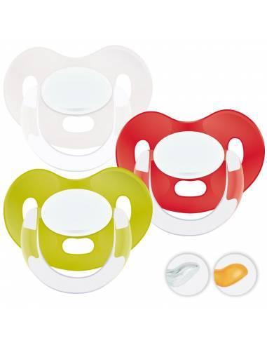 Chupetes Personalizados MAXIBEBÉ Rojo Verde 0-6m - Chupetes recién nacidos 0-6 meses