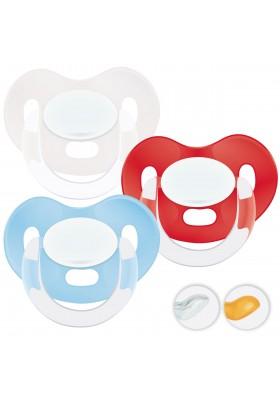 Chupetes recién nacidos 0-6 meses - Chupetes Personalizados MAXIBEBÉ Celeste Rojo 0-6m