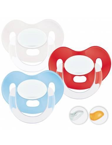 Chupetes Personalizados MAXIBEBÉ Celeste Rojo 0-6m - Chupetes recién nacidos 0-6 meses