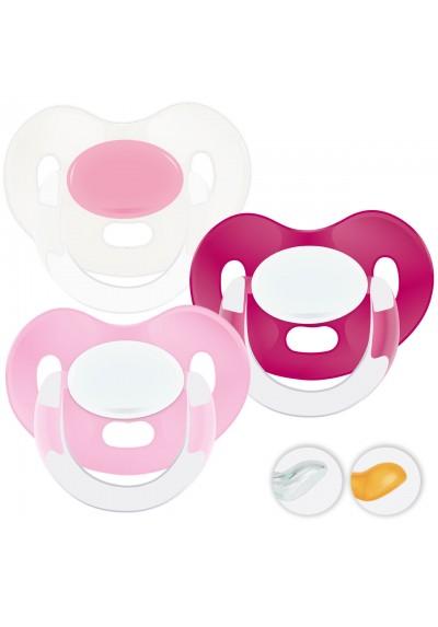 Chupetes bebés 6-36 meses - Chupetes Personalizados MAXIBEBÉ Glamour Niña 6-36m