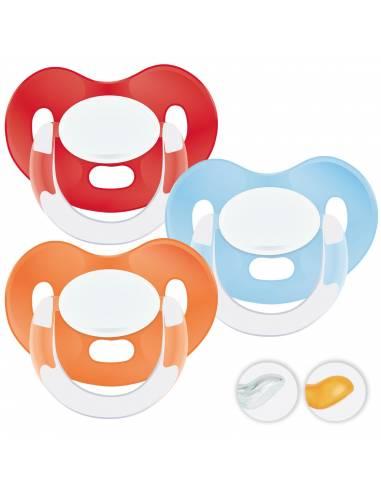 Chupetes Personalizados MAXIBEBÉ Rojo Naranja 6-36m - Chupetes bebés 6-36 meses