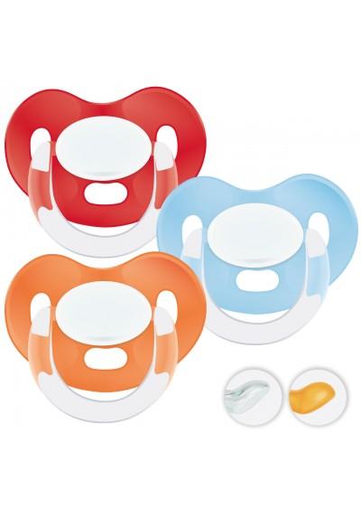 Chupetes bebés 6-36 meses - Chupetes Personalizados MAXIBEBÉ Rojo Naranja 6-36m
