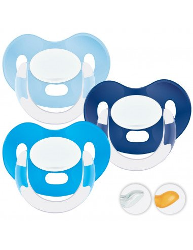 Chupetes Personalizados MAXIBEBÉ Azules 0-6m - Chupetes recién nacidos 0-6 meses