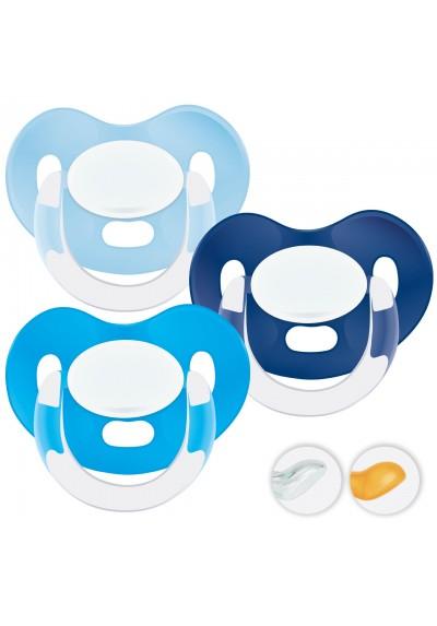 Chupetes recién nacidos 0-6 meses - Chupetes Personalizados MAXIBEBÉ Azules 0-6m