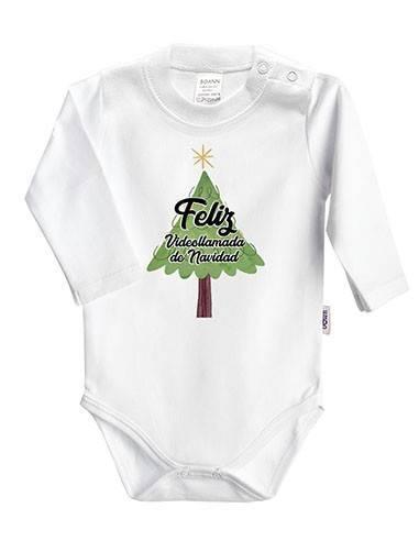 """Body bebé Navidad """"Feliz videollamada de Navidad"""" - Bodys bebé personalizados"""