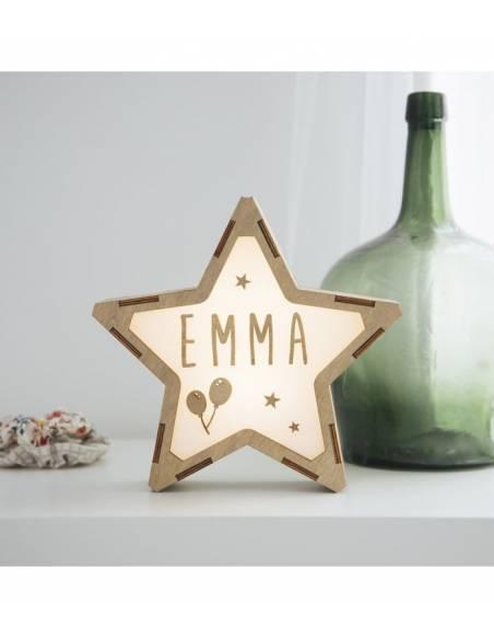Lámpara GLOBOS decorativa estrella personalizada con nombre - Lámparas infantiles personalizadas