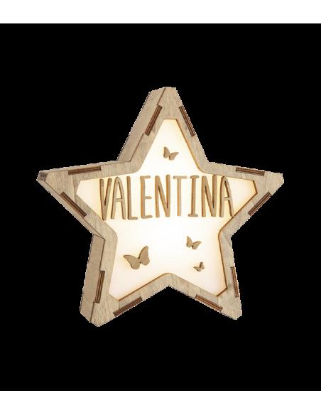 Lámpara MARIPOSAS decorativa estrella personalizada con nombre - Lámparas infantiles personalizadas