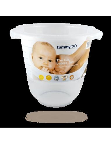 Bañera cubo Tummy Tub semitransparente