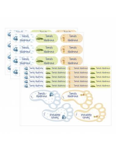 Etiquetas identificativas pack mixto - Regalos de guardería y cole para bebés y niños